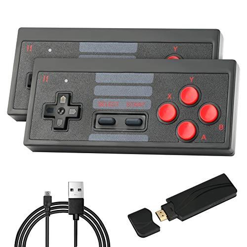4K Videogiochi Console Costruito in 628 Classic Games Achort Mini Retro Console Wireless Controller Uscita Doppio Giocatori, Videogiochi Portatile TV Game Box Controller per Ragazzi Bambini