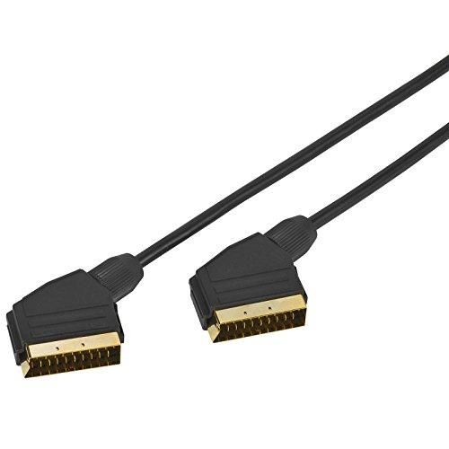 Panasonic DVD-S500EG-K Eleganter DVD-Player (Multiformat Wiedergabe mit xvid, MP3 und JPEG, USB 2.0) schwarz & Vivanco Audio-/Videokabel (Scartkabel, vergoldete Kontakte 1,2 m)