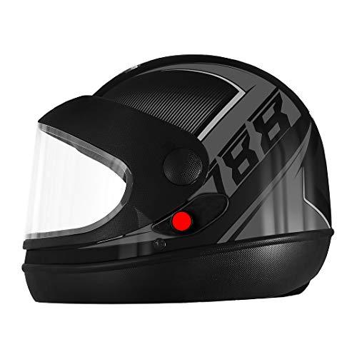 Capacete Pro Tork Super Sport Moto 2019 Fosco 60 Preto/Grafite