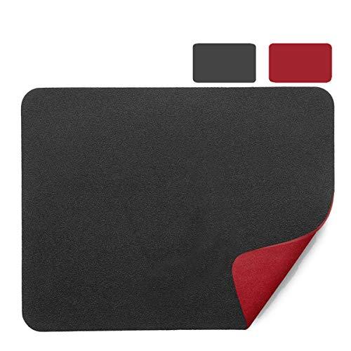 Anmete Tappetino per Mouse Pad 26×21cm Antiscivolo Gaming Mouse Pad in Pelle PU Doppio Lato Impermeabile Tappetino per il Mousepad Gioco Superficie Liscia Portatile Mousepad Laptop PC Ufficio