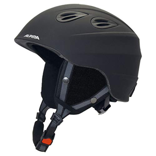 Alpina Sports Unisex– Erwachsene JUNTA 2.0 Skihelm, Black matt, 54-57