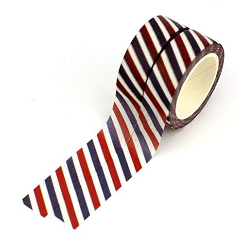 Bricolaje creativo 2 unids/lote rayas diagonales washi cintas patrón de correo patrón máscara DIY planificador scrapbook adhesivo adhesivo cintas de papel 15mm * 10m para cinta decorativa