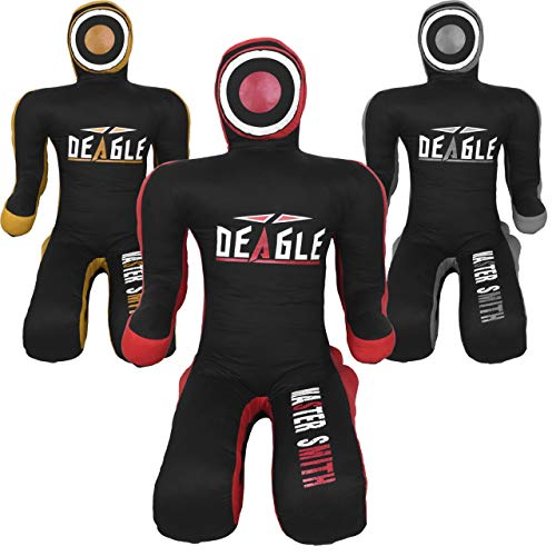 Deagle Master Smith MMA Grappling Submission Sitting Dummy (Black/RED, 6FT)