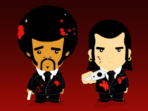 Pulp Fiction Film Leinwand Print Quentin Tarantino, John Travolta, UMA THURMAN Creolen (* * Amazing Qualität auf dickem Rahmen aus Kiefernholz * *)–76,2x 50,8cm Umwerfende Galerie gerahmt Leinwand Kunstdruck Bild Poster, fertig zum Aufhängen NEU