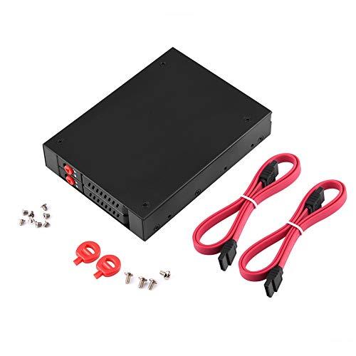 Cuifati Mobiles HDD/SSD-Rack, mobiles Rack für 3,5-Zoll-Diskettenlaufwerk des PCs, internes 2,5-Zoll-SATA-HDD/SSD-Mobilrack von OImaster, langlebig und robust, Gute Wärmeableitung