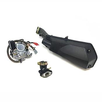 MYK Repair Upgrade Combo 50cc Tao Tao  Scooter won't run troubleshooting Kit includes Adjustable Carburetor Air Filter and Intake Manifold