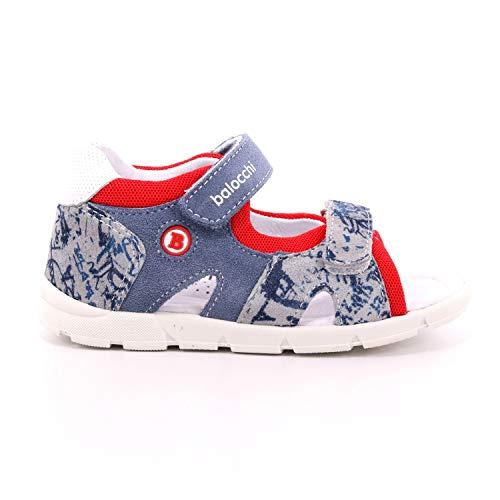 Balocchi Sandalo Primi Passi con Chiusura Velcro Blue Jeans, 26