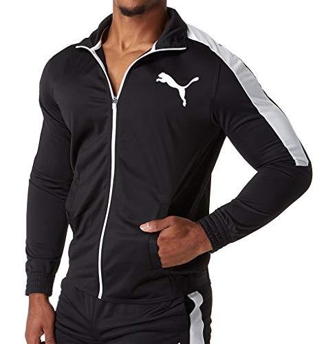 PUMA Men's Contrast Jacket, Black White, XL