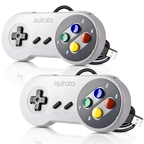 2 Pack Retro USB SNES Super Nintendo Controller,kiwitatá Super Classic PC USB...