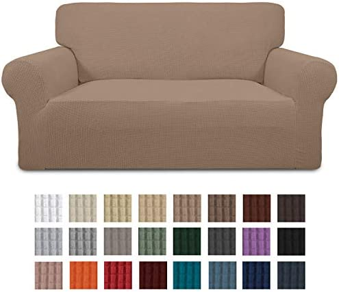 Best Easy-Going Stretch Loveseat Slipcover 1-Piece Couch Sofa Cover Furniture Protector Soft with Elastic