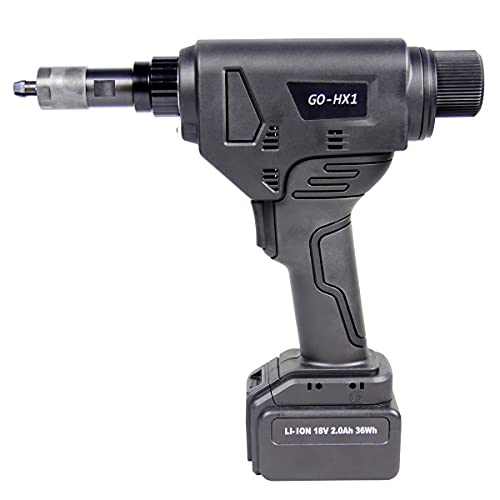 GOEBEL - Cordless tool GO-HX1 cordless hexagonal punching tool with brushless motor including 2 batteries, case and accessories with working area M4 - M8 all materials