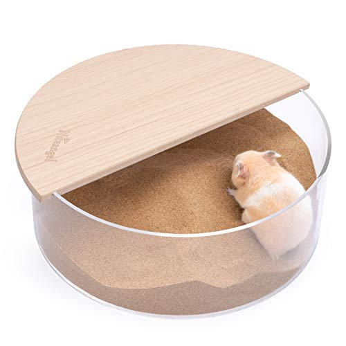 Niteangel Small Animal Sand-Bath Box: - Acrylic Critter's Sand Bath Shower Room & Digging Sand Container for Hamsters Mice Lemming Gerbils or Other Small Pets...