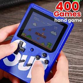Sup Game Box Consola portátil Videojuego 8 bit 400 Juegos Pantalla Colores Retro 'Nostalgic (Azul)