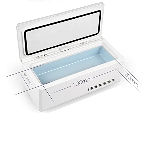 RURUZI Refrigerador de insulina refrigerador de coche refrigerado eléctrico auto viaje refrigerador refrigerador al aire libre caja de medicina portátil Accesorios coche nevera congelador