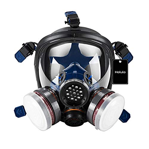 Holulo Organic Vapor Full Face Safety Respirator Mask Respiratory Protection Gas Masks Paint...