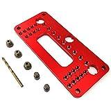 HYY-YY aleación de aluminio agujero de bolsillo Jig Set armario puerta posicionador manija perforador localizador taladro guía manga