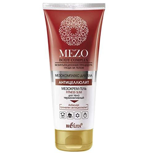 Belita MEZO Body Complex Thermoaktives Anti-Cellulite Creme-Gel FITNESS SLIM für den Körper 200ml, mit Koffein, rotem Pfeffer, L-Carnitin, Pronalen Anti-Cellulite und Actisculpt Komplexen