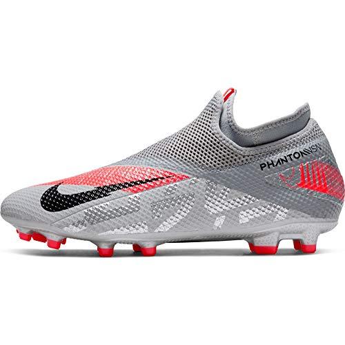 Nike Unisex Phantom Vsn 2 Academy Df Fg/Mg Sneaker, MTLC Bomber Gry/Negro-Particle Grey, 43 EU