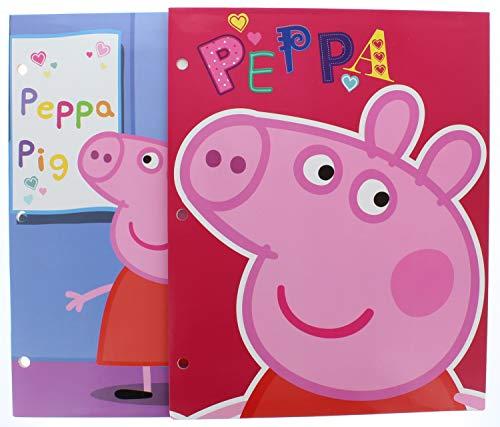 2 Pk. Pig 3 Ring Pocket Folders (Assorted Designs)