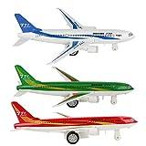 Giocattoli per aeromobili Pull-Back in Miniatura Modello Aeroplano elettronico in Lega per Bambini(Bianca)