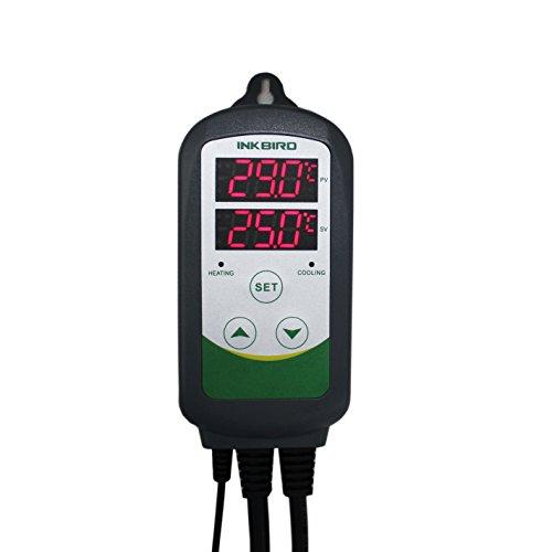 Inkbird ITC-308 Digital Termostato 2 Relé con Sonda 220V, Control la Temperatura de Calentador y Refrigerador para Acuarios, Reptiles Terrarios, Incubación, Plantas de Invernadero y Cerveza Artesanal
