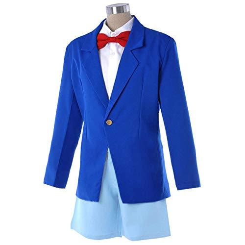 LOTOTLOMCA Detektiv Conan Cos Kleidung Blau Uniform Erwachsenen Erwachsenen Cosplay Kostüm Polyesterfaser Stoff, Weich Und Komfortabel, Einschließlich Hemd + Shorts + Jacke,XXL