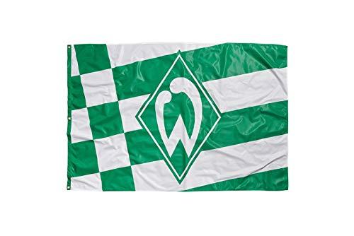 Werder Bremen Hissfahne Karo, Fahne Raute 180 x 120 cm - Plus Lesezeichen I Love Bremen