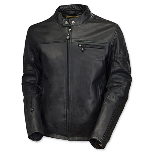 Roland Sands Design Apparel Men's Roland Sands Design Ronin Black Leather Jacket 0800-04L0-0002