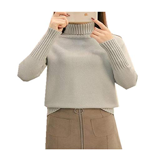 LILIZHAN Herfst Winter Sweater Vrouwen Gebreide Coltrui Casual Zachte Mode Slim Femme Elasticiteit Pullovers