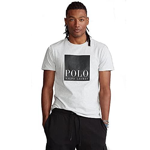 Polo Ralph Lauren T-Shirt da Uomo Custom Slim Fit 565536 (S, Smoke Heather)