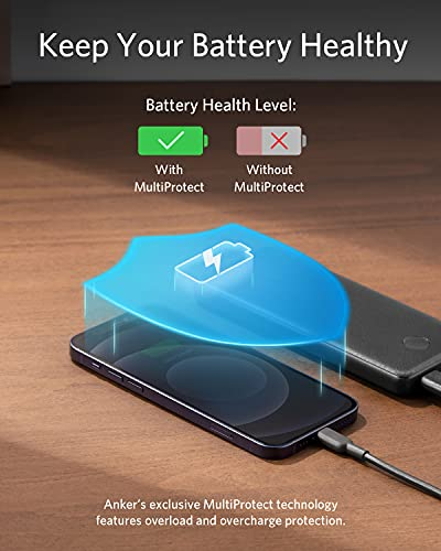 Anker Portable Charger, PowerCore Slim 10000 Power Bank, 10000mAh Battery Pack, High-Speed PowerIQ Charging Technology for iPhone, Samsung Galaxy, and More