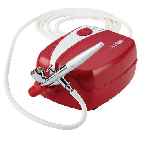 Cake Boss Decorating Tools Air Brush Kit, Red