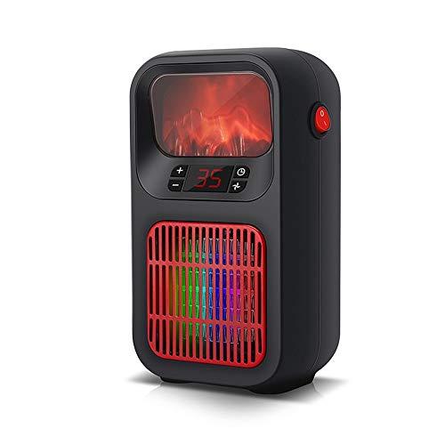 XiaoDong1 Push-Taste Tragbare Einzelne Mini-elektrische Heizeinrichtung Stummes Schwarze Schwarze High Power Normal-Knopf-Vertikalheizung