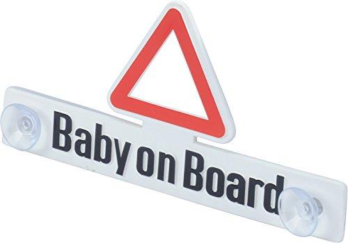 hr-imotion Baby-On-Board Schild mit Saugnapfhalterung [Stabil | Wieder verwendbar | Made in Germany] - 12410001