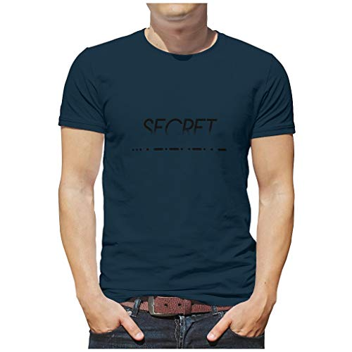 Men's Secret NATO Phonetic Cotton T-Shirt - Summer Leisure Shirt - Blue - 3XL