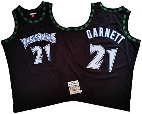 Camiseta De Baloncesto Masculino, Timberwolves De La NBA # 21 Kevin Garnett Baloncesto Ropa Cómoda/Malla/Enfriar Bordado Baloncesto Retro Jerseys