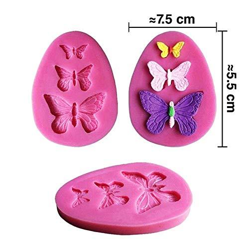 KIRALOVE Schmetterlingsförmige silikonform x 3 abgüsse - heimwerken - basteln - hobbys - abgüsse - Form für bastelzwecke
