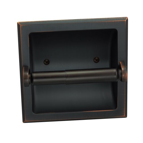 Designers Impressions Oil Rubbed Bronze Recessed Toilet/Tissue Paper Holder All Metal Contruction -...