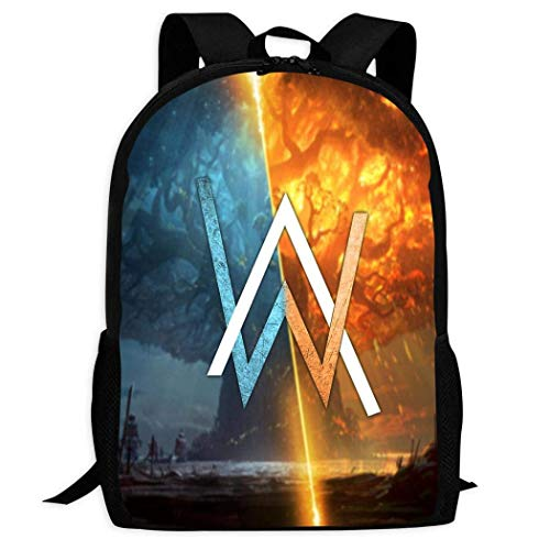 XCNGG Al-an Wa-lker Universe Unisex Fully Printed Backpack Casual Hiking Travel Daypack Laptop Bookbag Business College Shoulder Bag