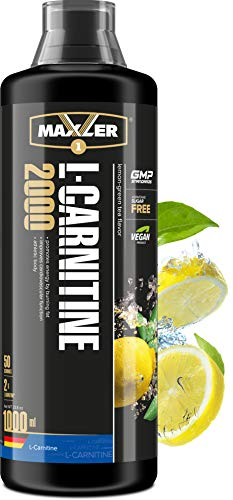Maxler L Carnitin Liquid Hochdosiert - Veganes L Carnitin Flüssig beliebt für Fettverbrennung Diät & Definitionsphase - 2000 mg von L-Carnitin pro Portion - Zitrone-Grüner Tee