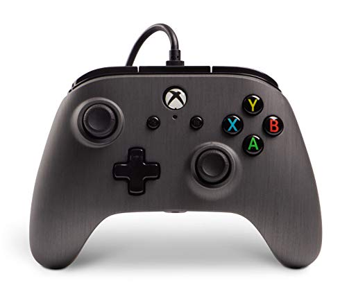Enhanced Wired Controller for Xbox One - Brushed Gunmetal (xbox_one) [Importación inglesa]