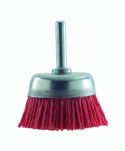 Bosch 2 609 256 525 - Cepillos de vaso para taladradoras, alambre de nilón con medio de lijado de corindón, grano K80, 75 mm