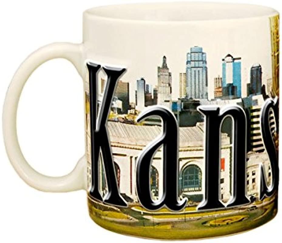 Americaware SMKNC01 Kansas City 18 Oz Full Color Relief Mug