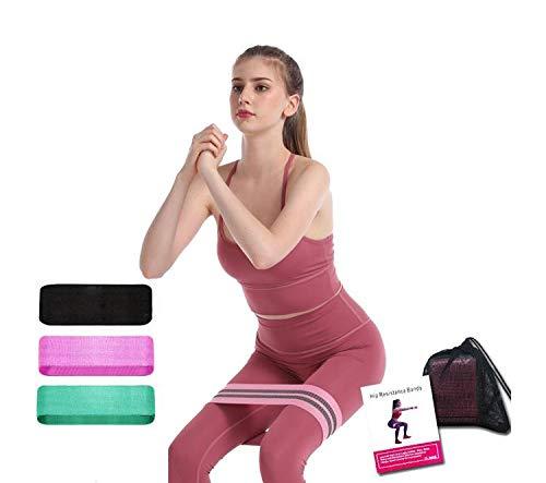 Widerstandsbänder Set (3er Pack) Fitnessbänder Widerstandsbänder für Hüften, Gesäß und Beine Trainingsbänder für Beintraining, Krafttraining, Muskelaufbau, Yoga, Crossfit, Gymnastik,Naturlatex