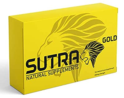 SUTRA Gold - (10 Capsule) Ginseng Complex Herbal Supplement for Men