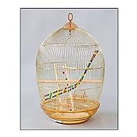 フライトバードケージキット 鳥かご ラウンドオウムケージ電気メッキゴールデンオウムメタル鳥ケージホームラージラグジュアリー大スペース48×78cm ペットの鳥の飛行ケージ オウムの檻 (Color : B)