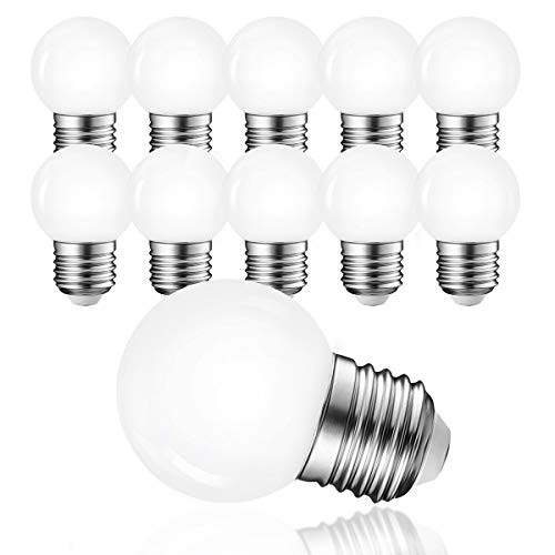LED G45 3W E27 Beleuchtung Glühbirnen,Warmweiß 3000K 230V Dekorative Leuchtmittel,LED Golf Kugel Glühbirne für Partybeleu chtung Biergartenbeleu chtung (Warmweiß),10per-pack