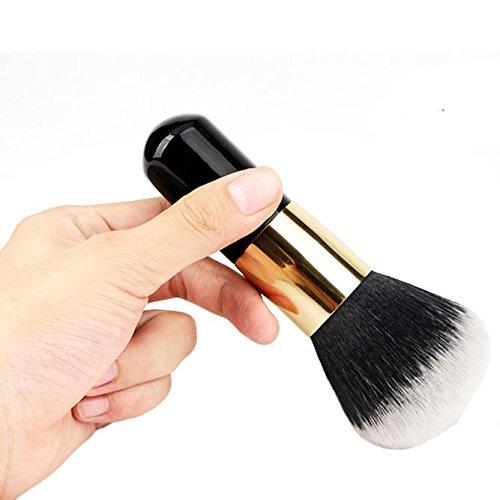 Xjp 1pcs Grosse poignée Noire en Bois Brosse à Maquillage Blush de beauté