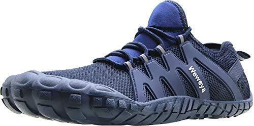 Weweya Barfußschuhe für Herren, minimalistischer Laufschuh, Cross-Trainingsschuh, Blau (blau), 47 EU