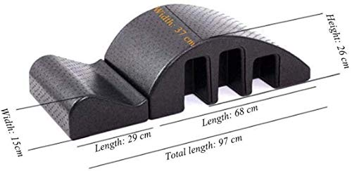 DJY-JY Pilates Yoga Masaje Spine Corrector BedSpine Barril Pilates Spine Corrector Equipo de Dolor de Espalda Relief- Volver Curve - Desmontable Design- Resistencia Formación Camilla Desmontable